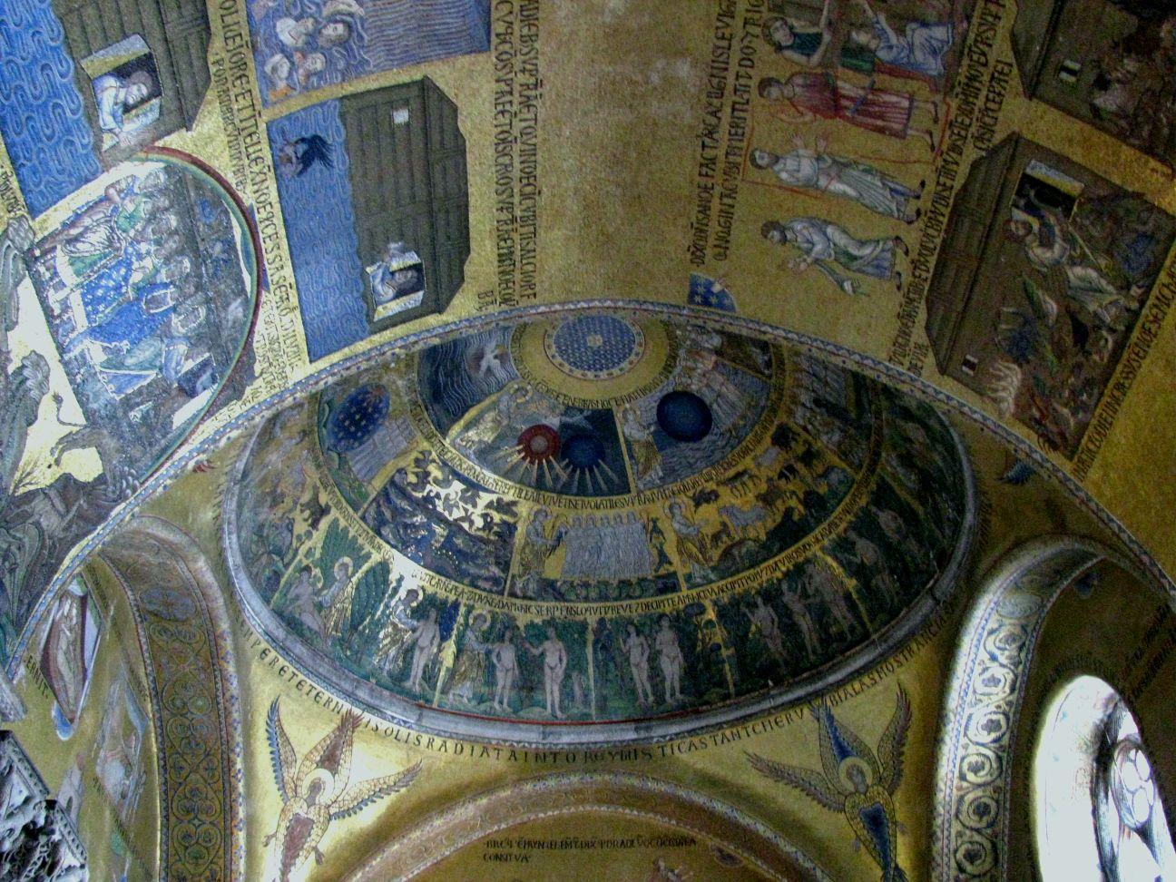 Собор Сан-Марко, купол сотворения мира и мозаики арок