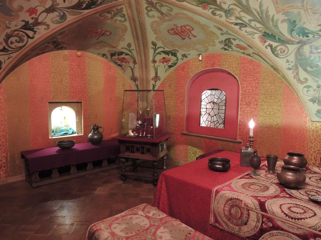Палаты Романовых в Зарядье, расписные потолки