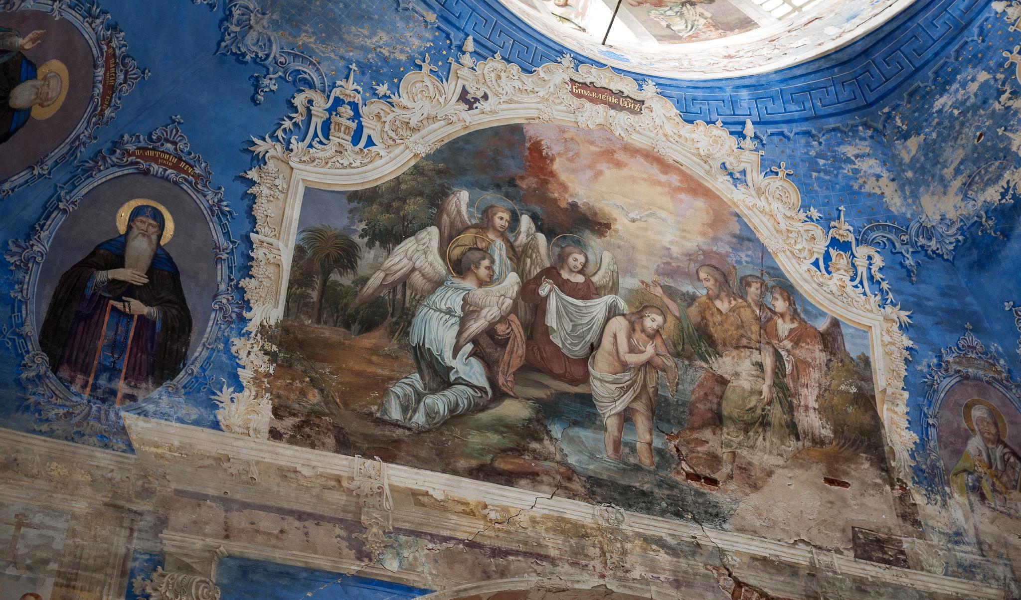 Старинные фрески, Алексеевский монастырь в Угличе
