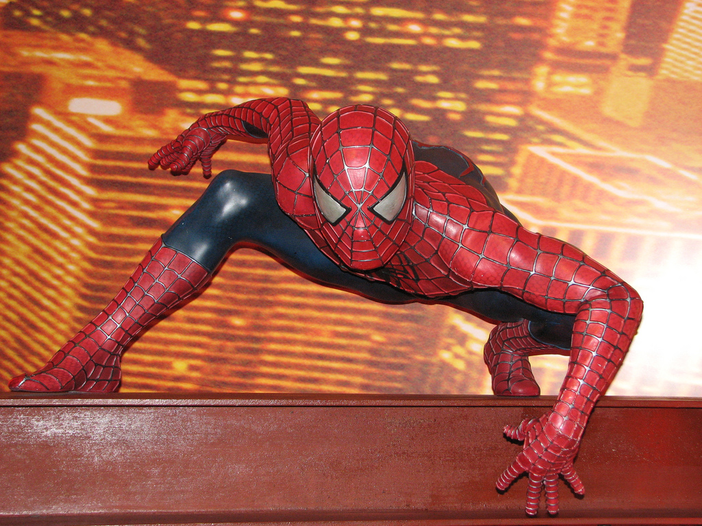 Человек-паук в музее мадам Тюссо, Лондон