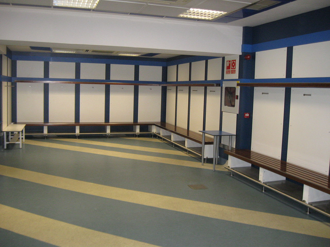 Стадион Сантьяго Бернабеу, раздевалка