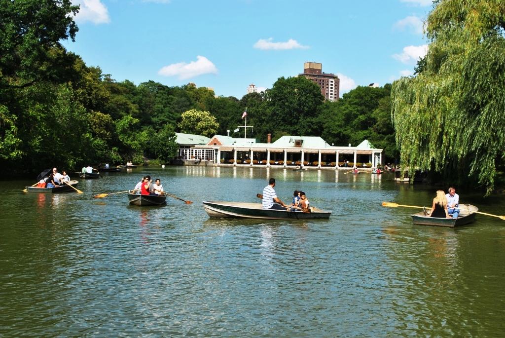 Центральный парк Нью-Йорка, озеро