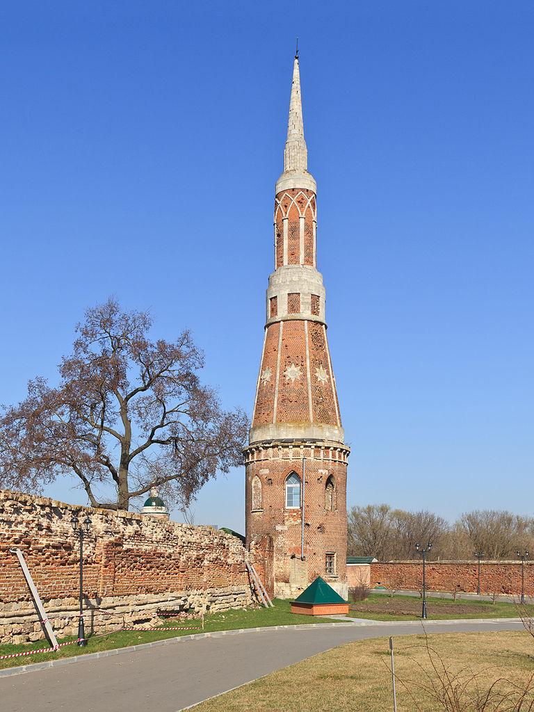 Богоявленский Старо-Голутвин монастырь в Коломне, башня на малой ограде