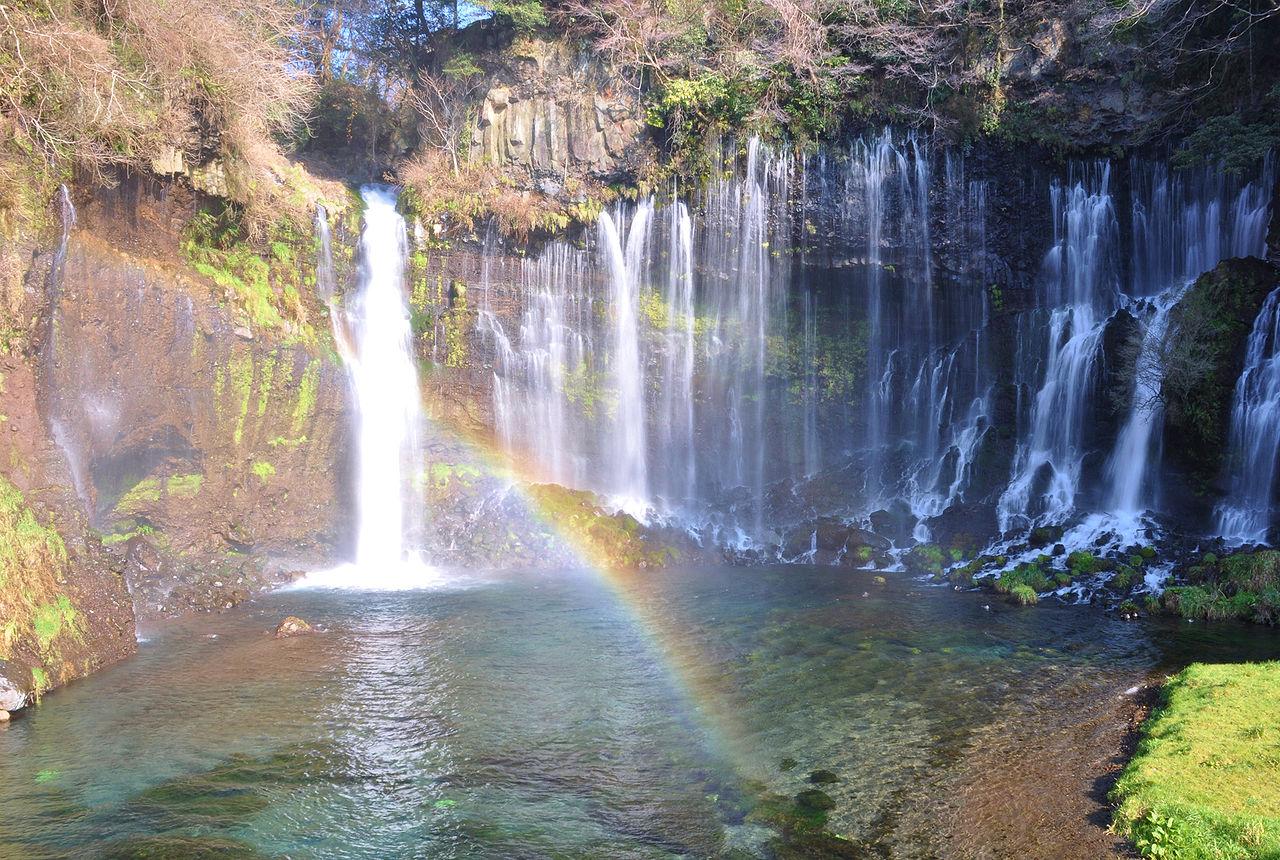 Водопад у горы Фудзи