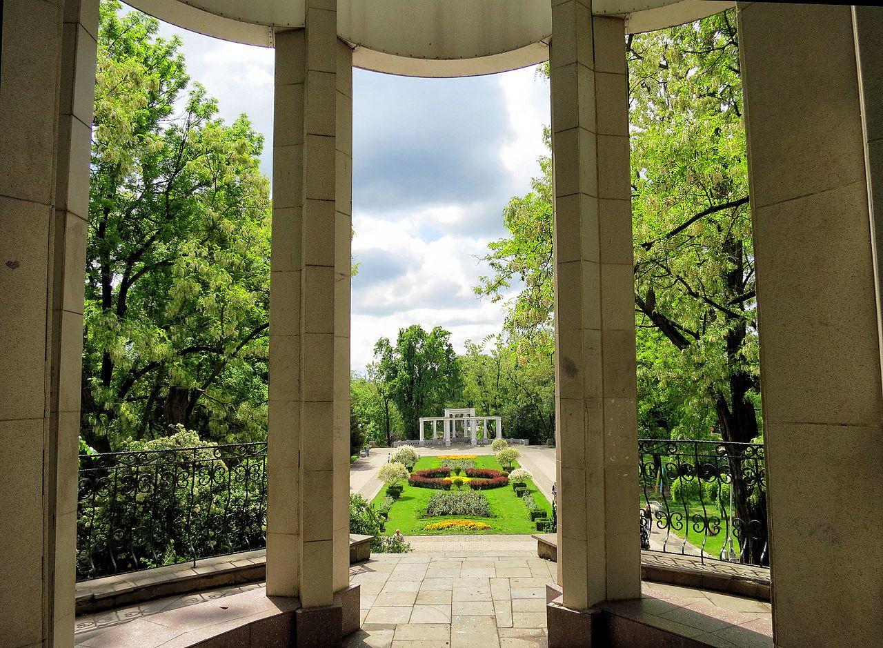 Городской сад в Краснодаре, вид из беседки смотровой площадки