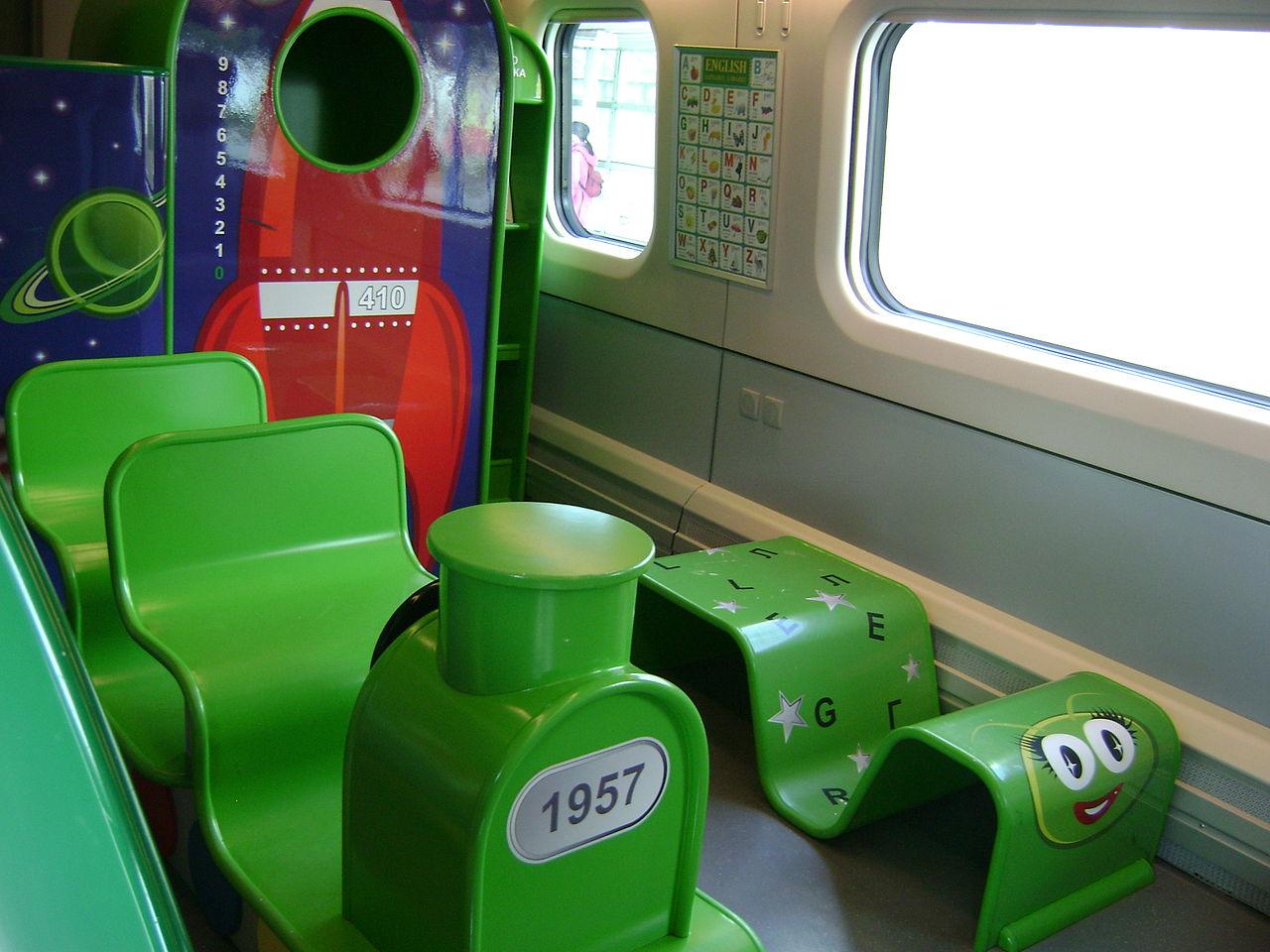Скоростной поезд «Аллегро», детская игровая комната