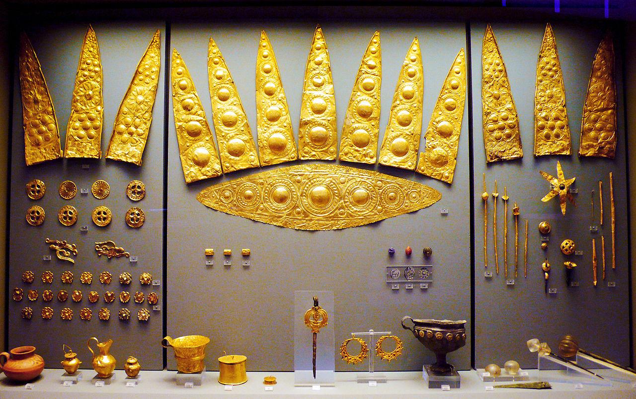 Национальный археологический музей, золотые диадемы из Микен