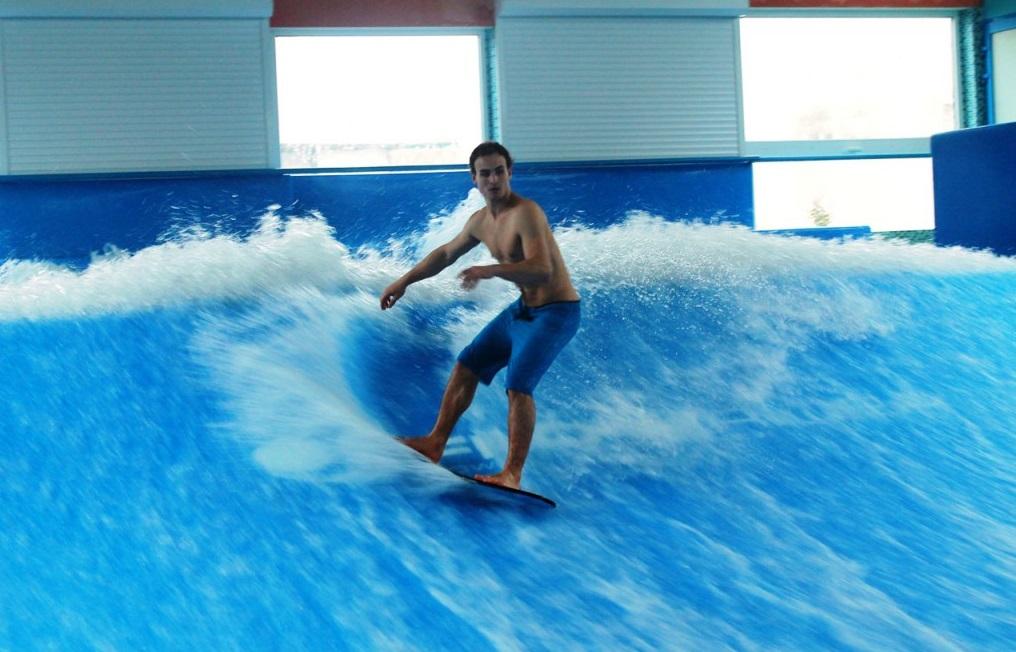 Серфинг, Аквапарк клуба «Юна-лайф», Москва