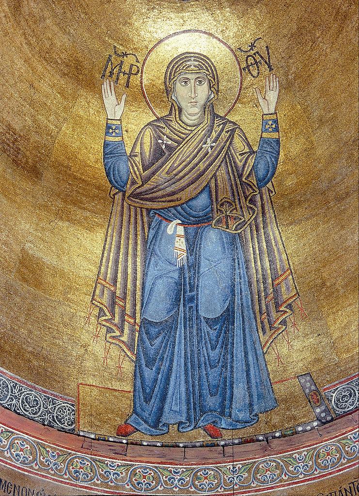 Софийский собор, мозаика в алтаре