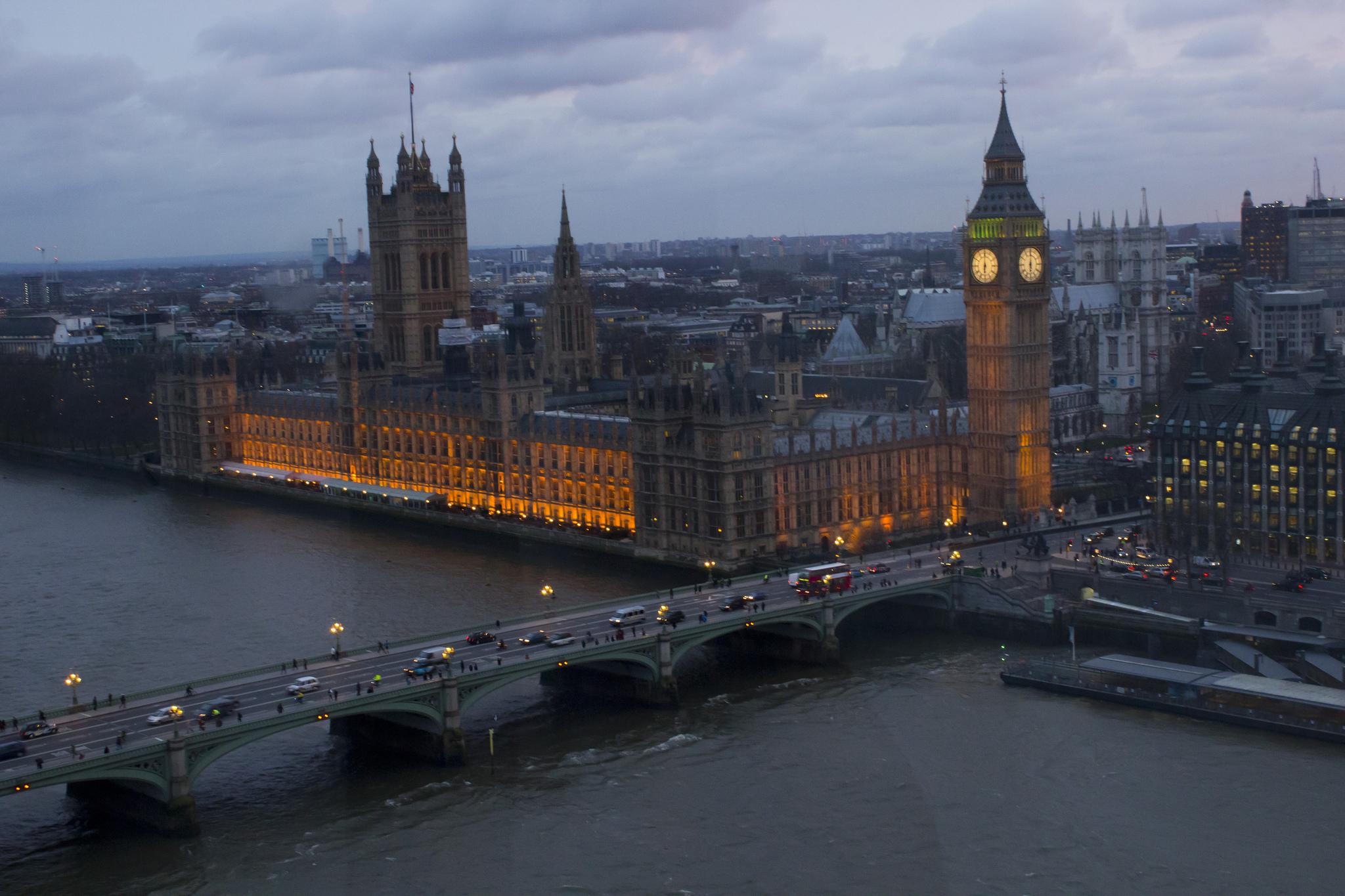 Вид из Лондонского глаза