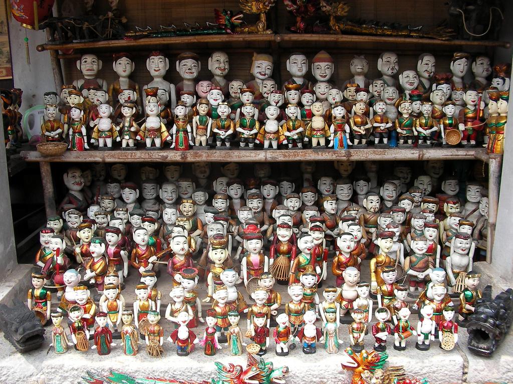 Вьетнамский кукольный театр на воде, куклы