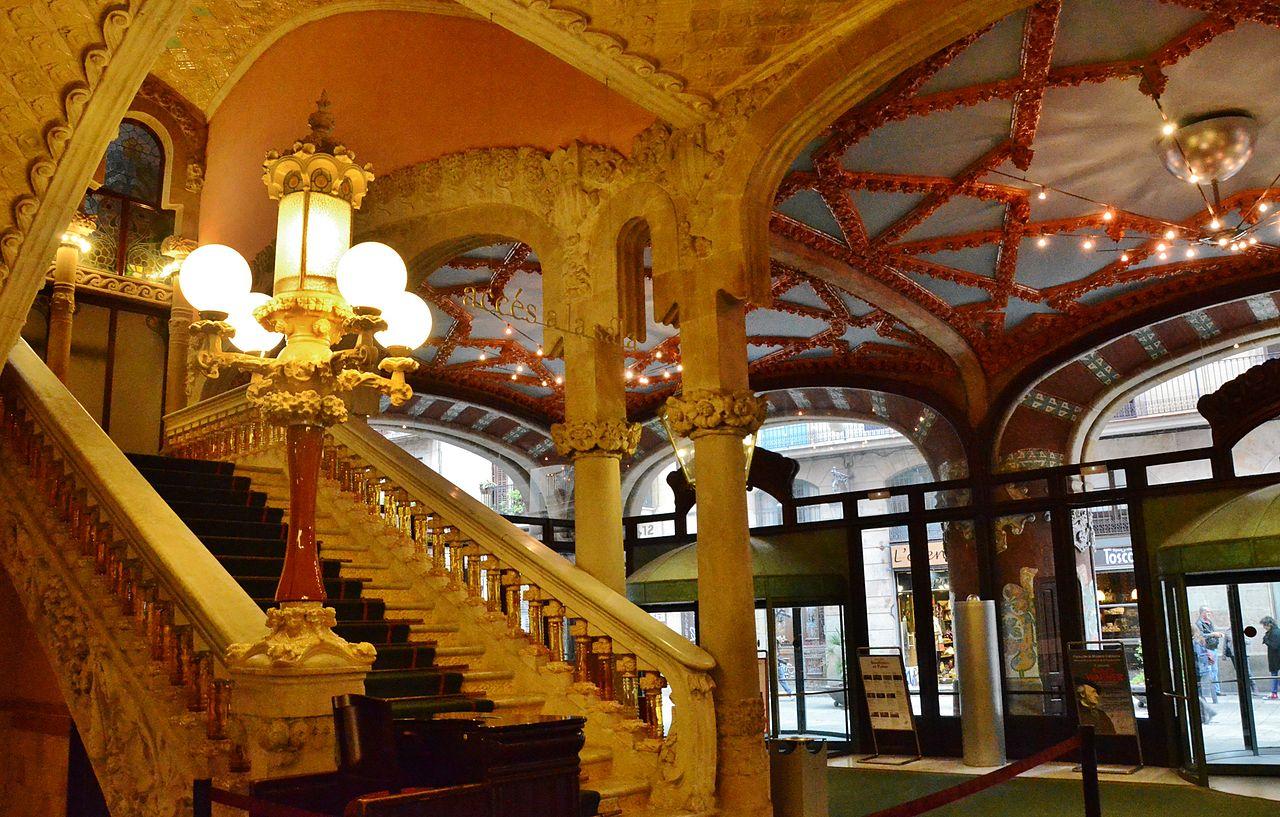 Дворец каталонской музыки, фойе