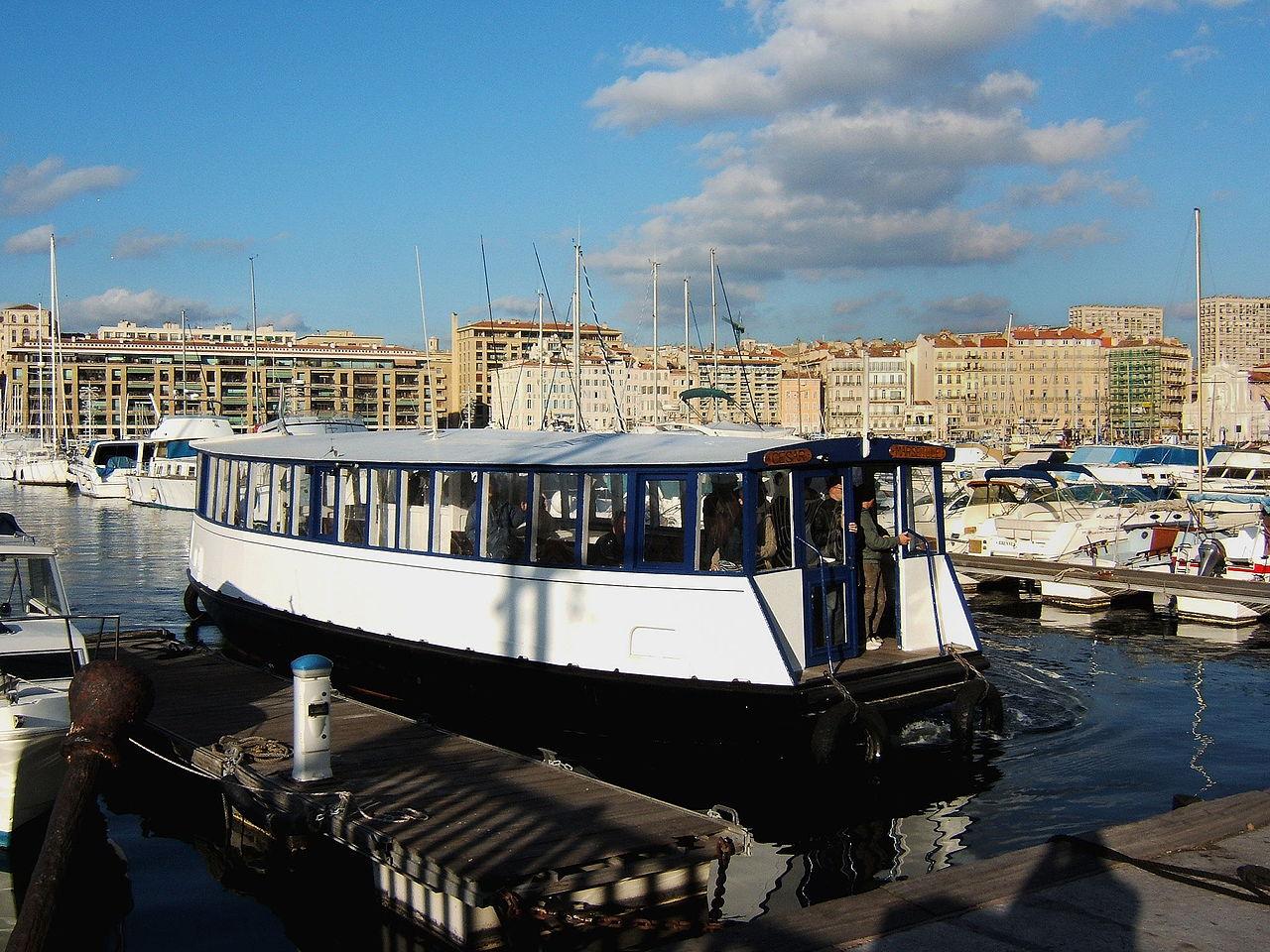 Старый порт Марселя, паром