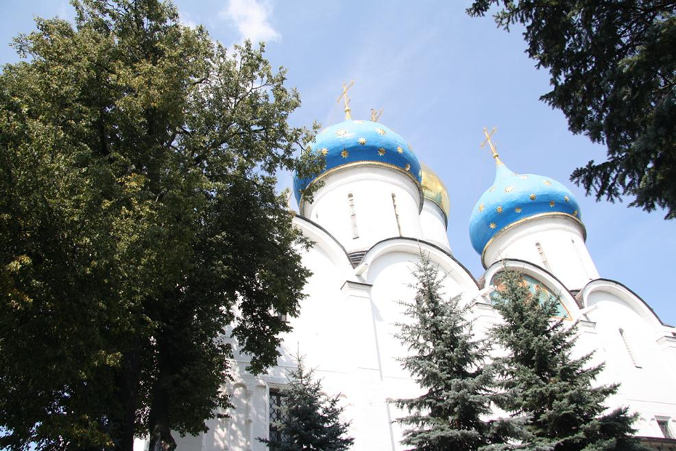 Вид на Успенский собор, Сергиев Посад