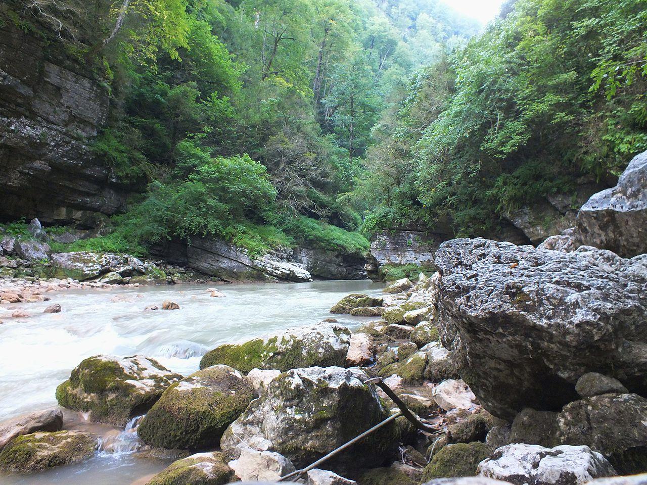 Гуамское ущелье, река Курджипс