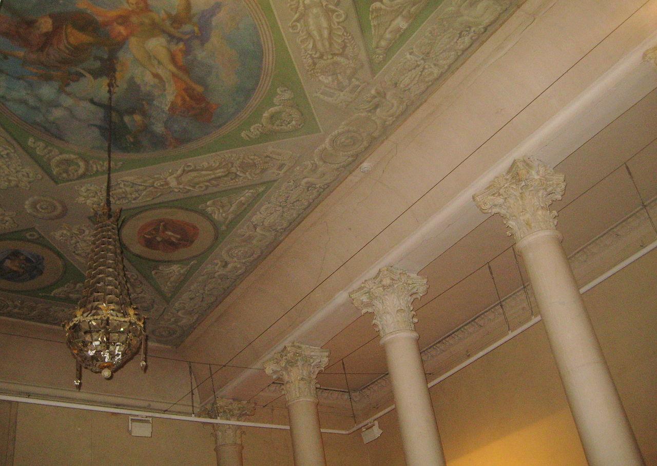 Музей архитектуры имени Щусева, роспись потолка парадных залов особняка Талызиных