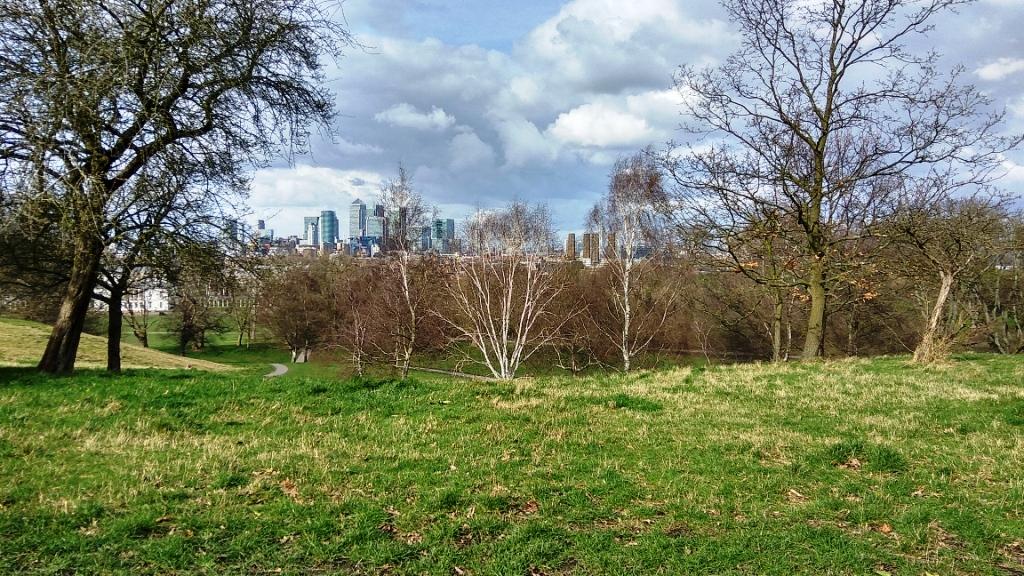 Весна в парке Гринвич, Лондон