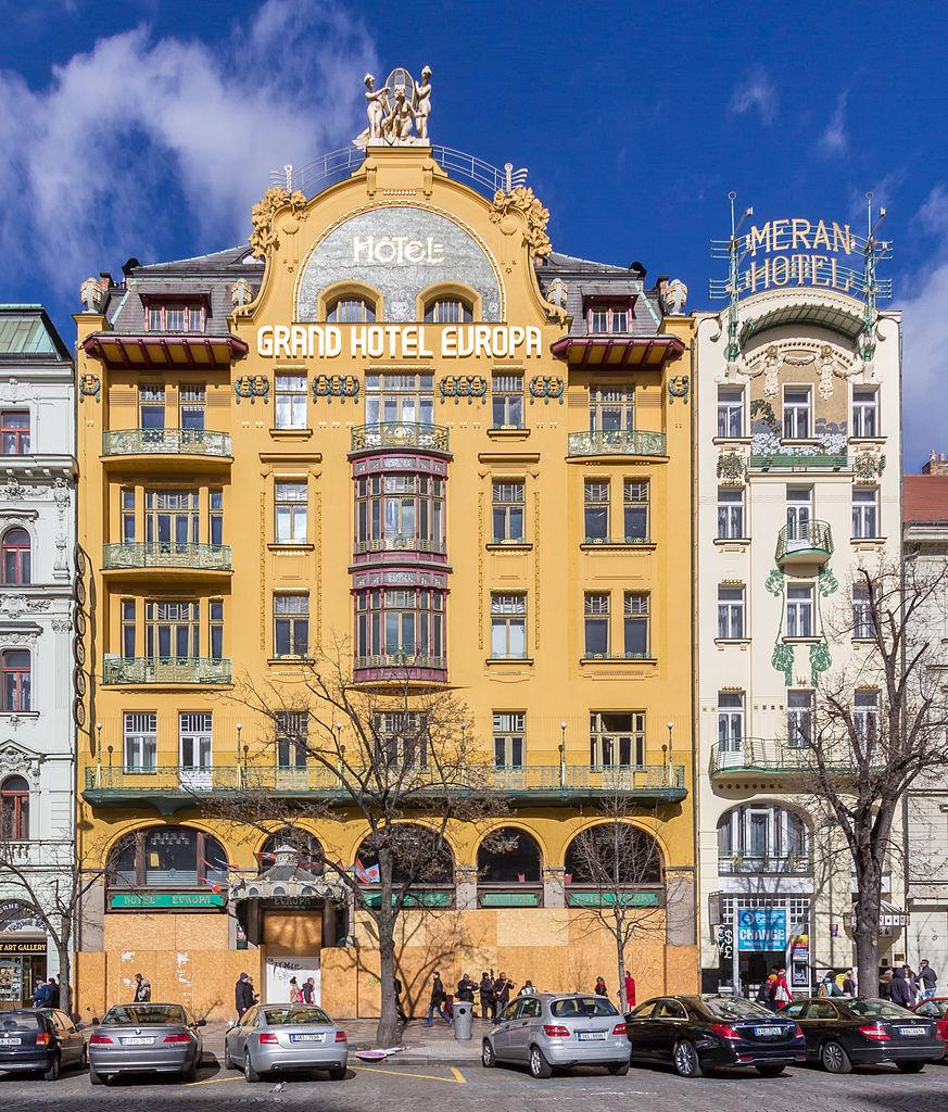 Вацлавская площадь, отель Европа