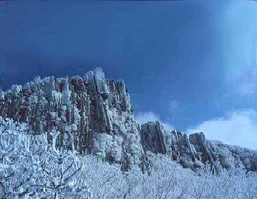 Вид на горы Мудынсан в провинции Кванчжу