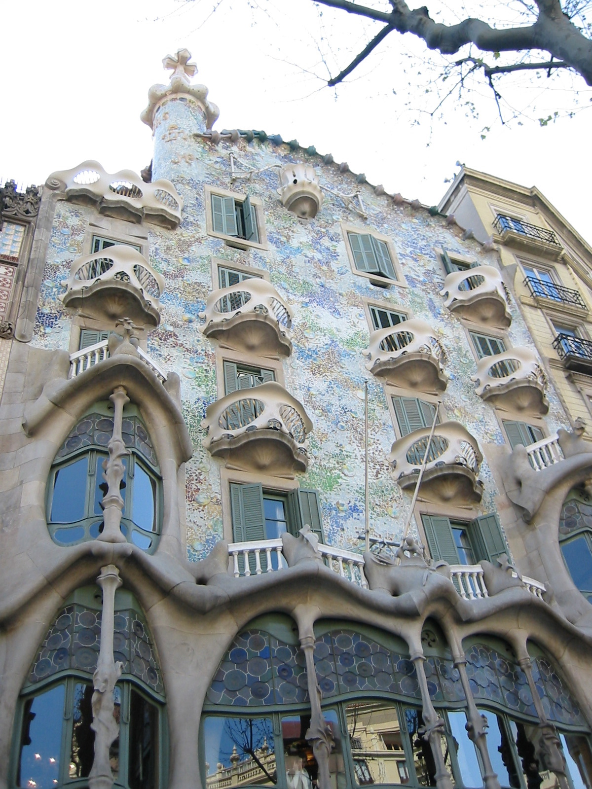 Дом Бальо, фасад