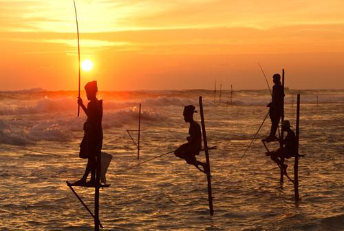 Местный стиль рыбалки, Шри-Ланка