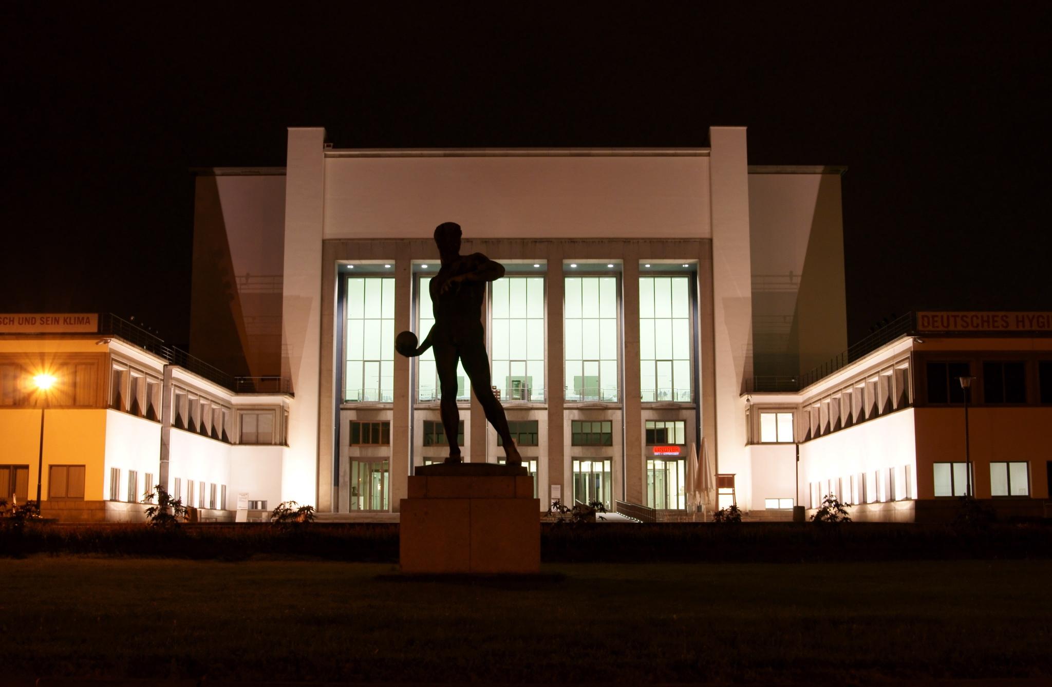 Немецкий музей гигиены вечером