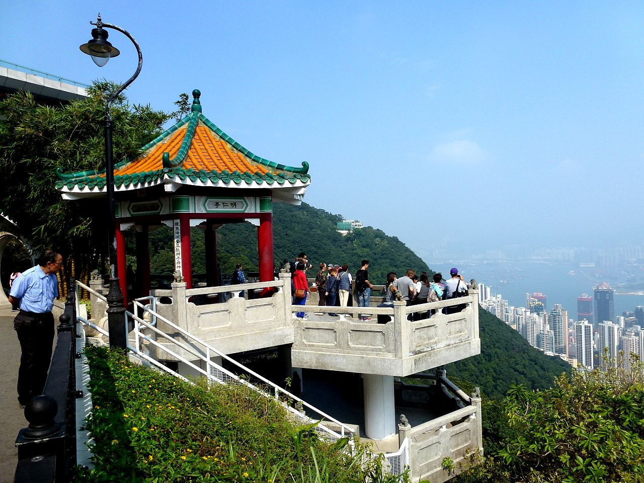 Пик Виктория в Гонконге, обзорная площадка