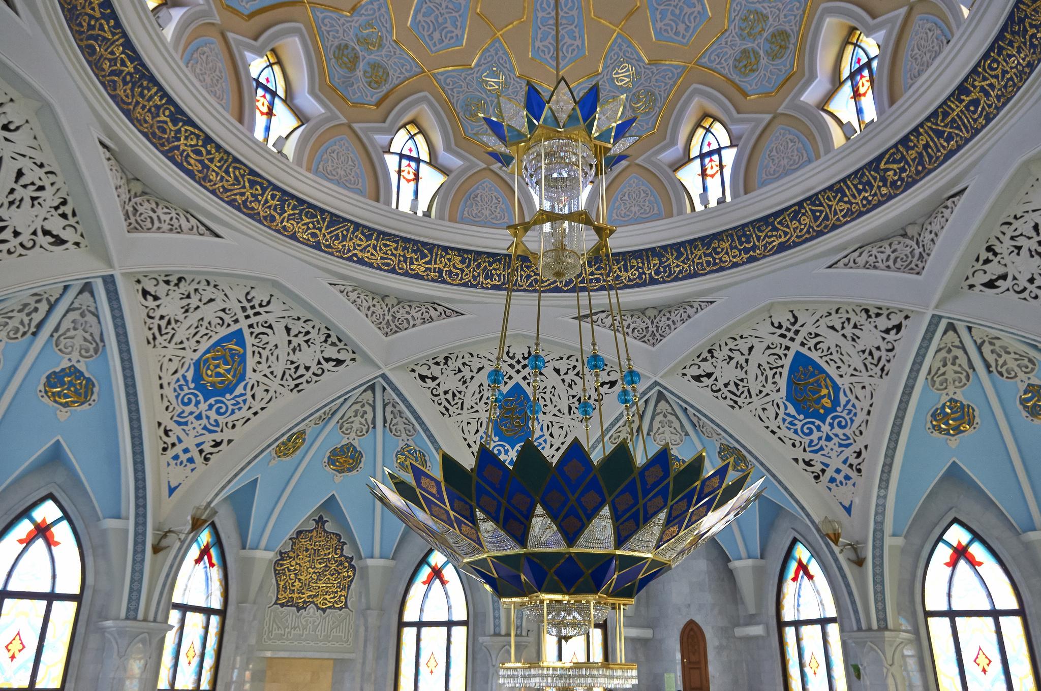 Внутри мечети, Кул-Шариф, Казань