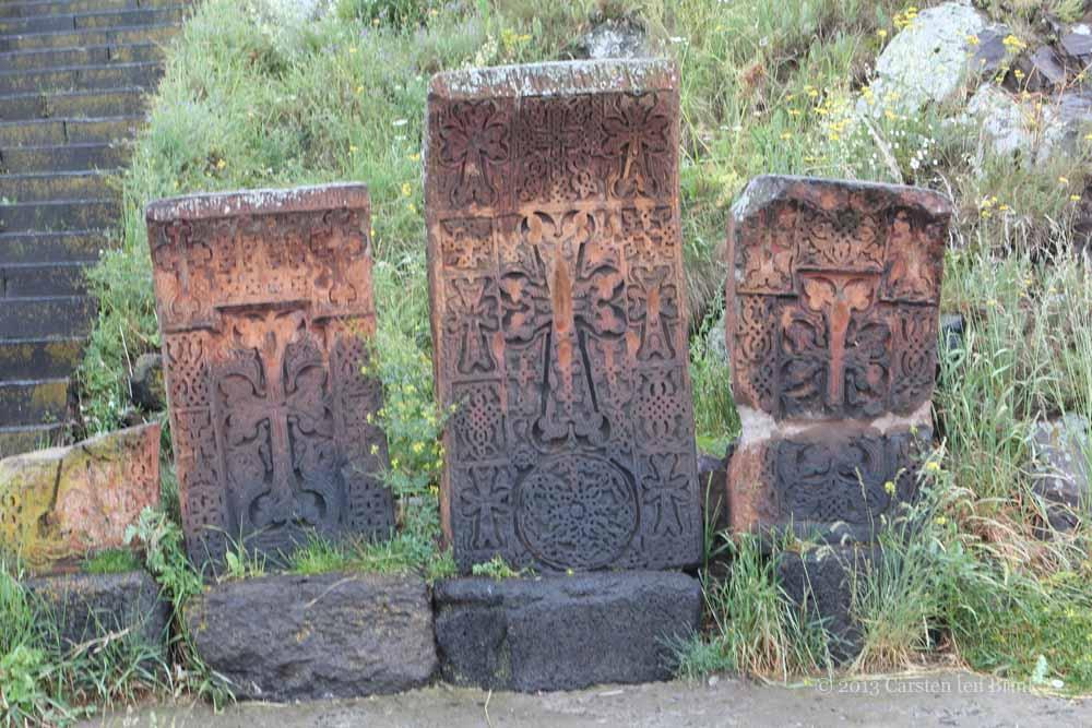 Хачкары в монастыре Севанаванк, Армения
