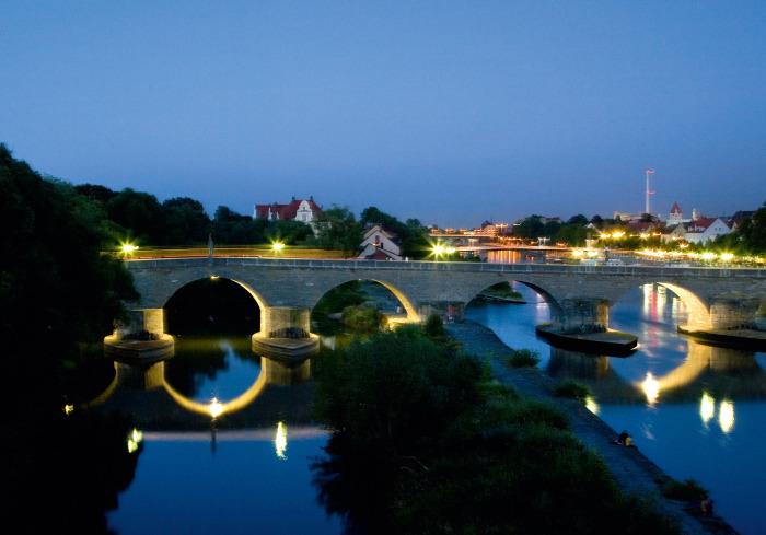 Вид на Каменный мост, Регенсбург