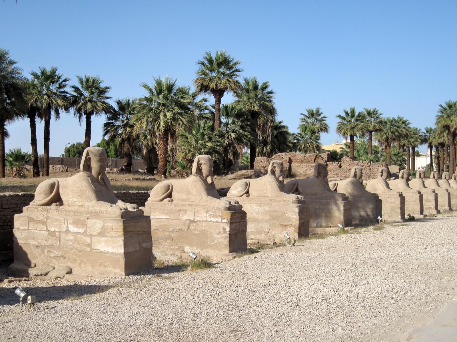 Большая Аллея сфинксов к Луксорскому храму