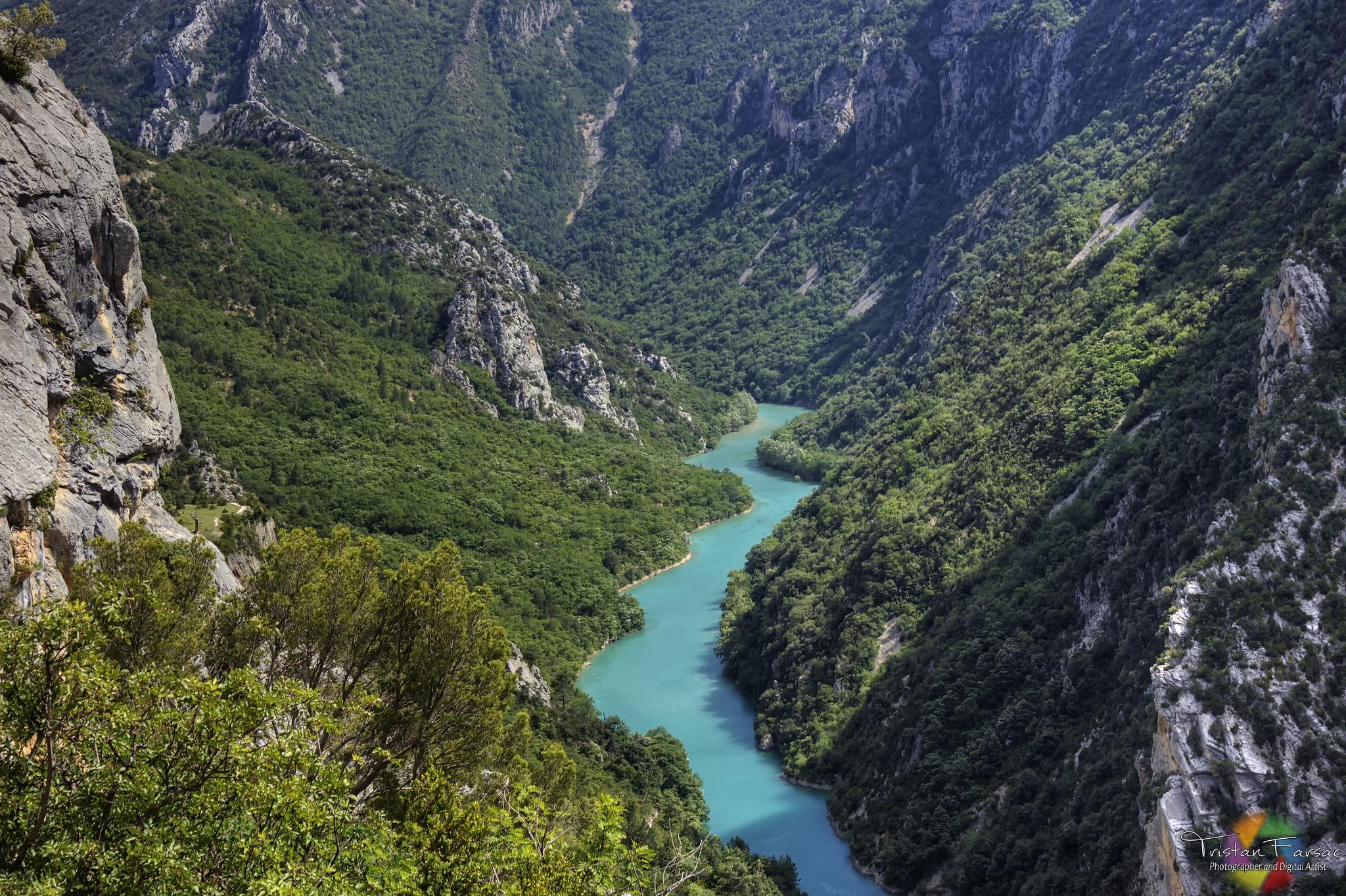 Вид на Вердонское ущелье, Прованс