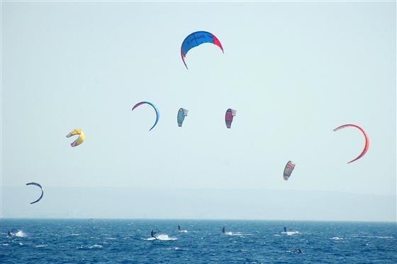 Кайтсерфинг на Средиземном море, Эйлат.jpg