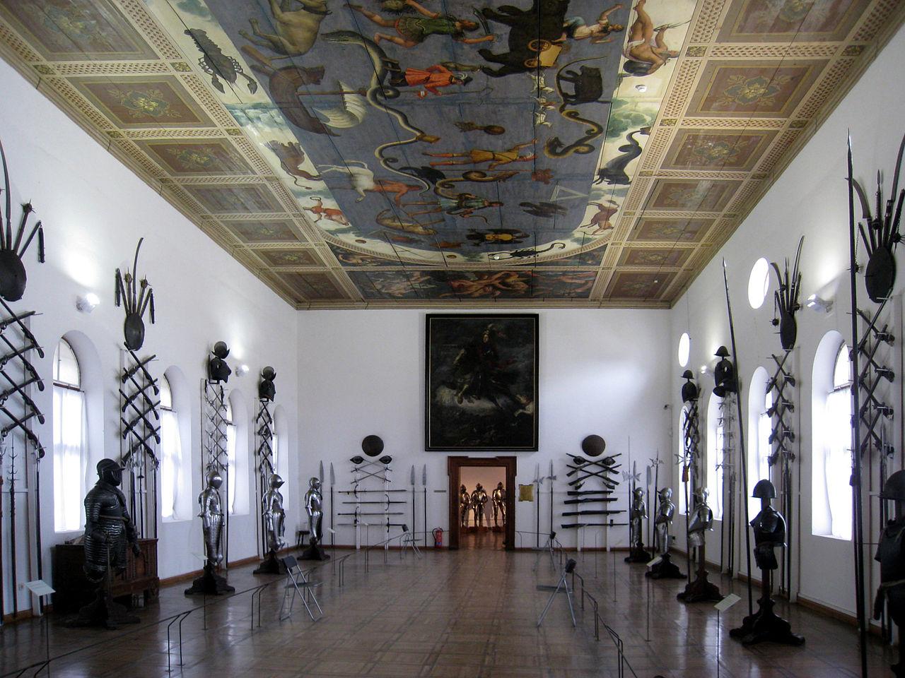 Замок Амбрас, оружейный зал