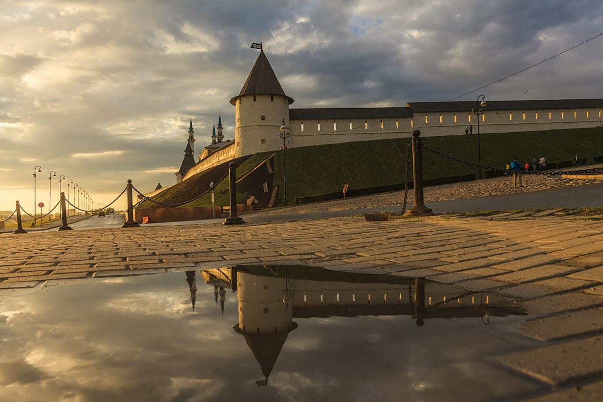 Вид на стены кремля, Казань