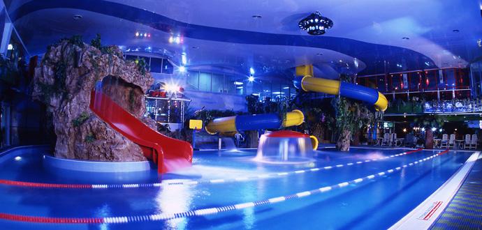 Детские горки, Аквазона фитнес-центра «Кимберли Лэнд», Москва