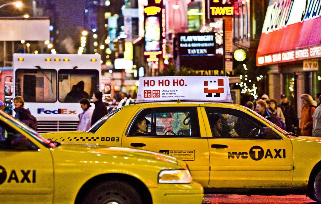 Такси на Таймс-Сквер, Нью-Йорк