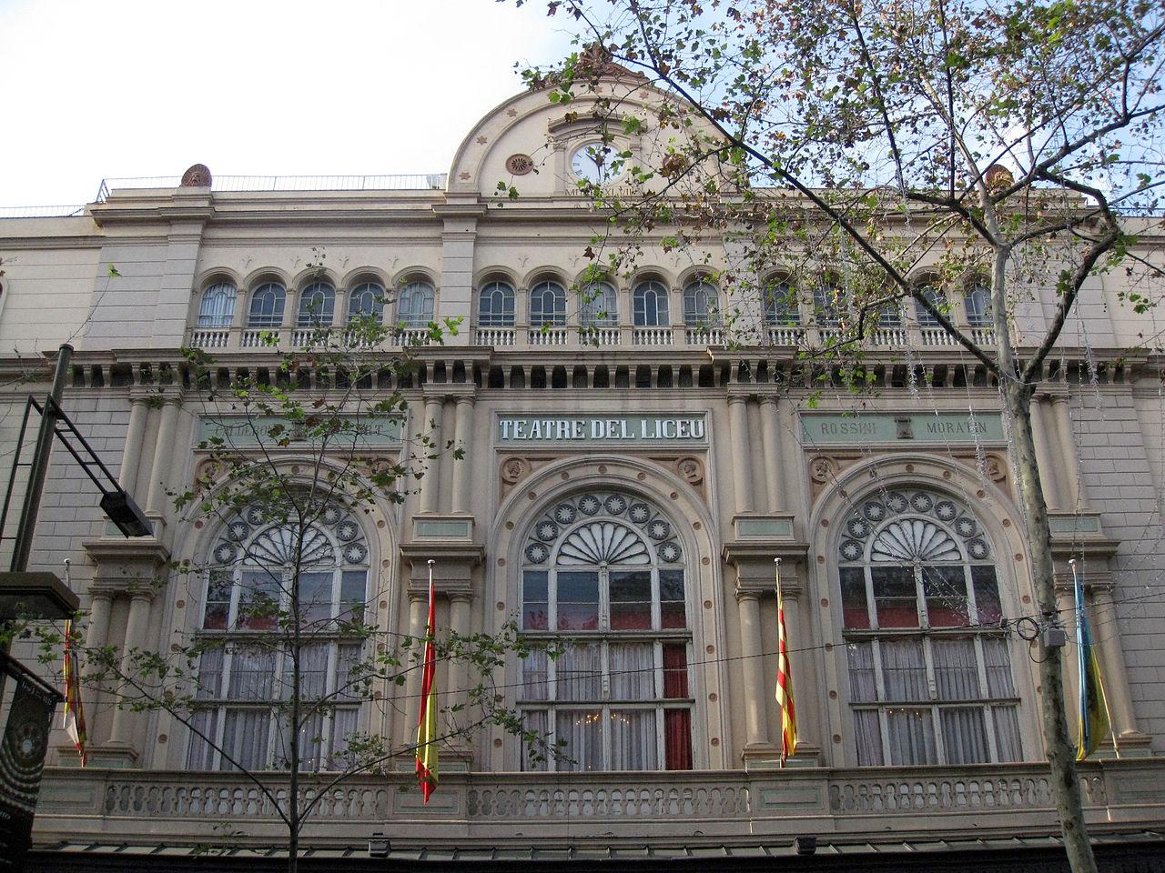 Театр Лисео, фасад