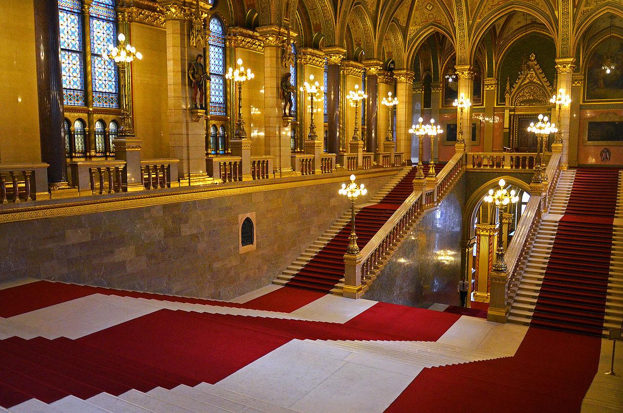 Здание венгерского парламента, главный холл