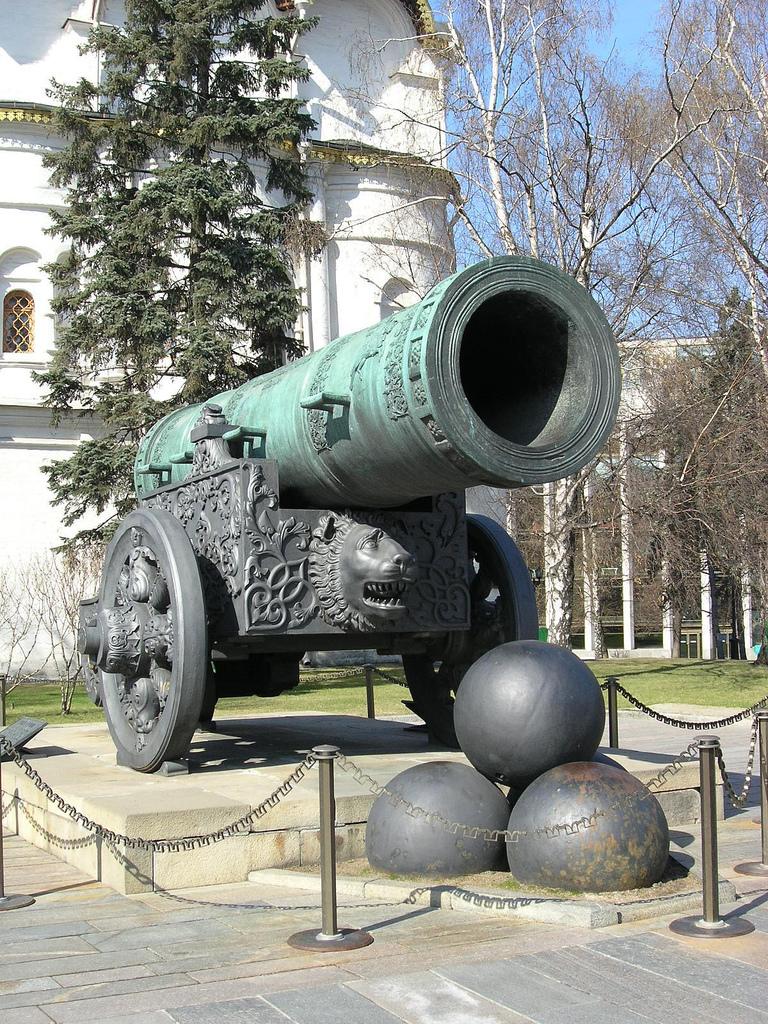 Кремль, царь-пушка, Москва