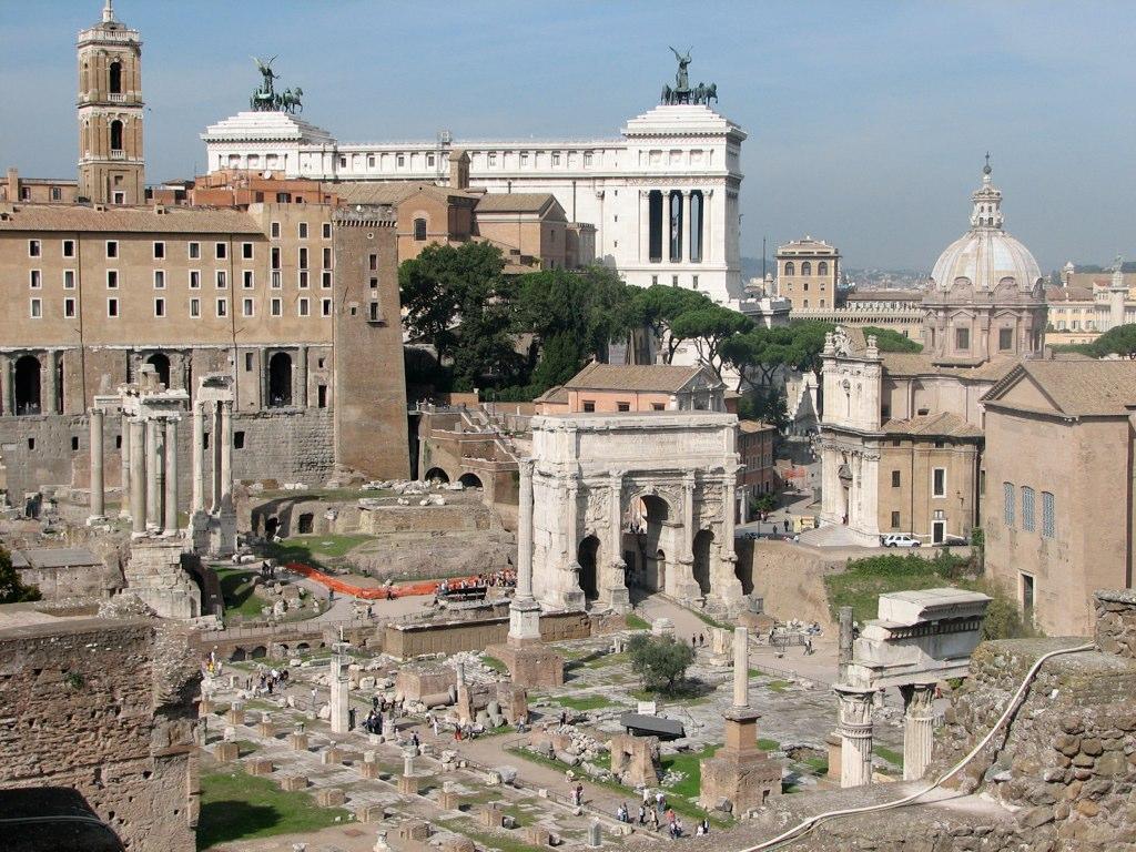 Палатин, центральный из семи главных холмов Рима