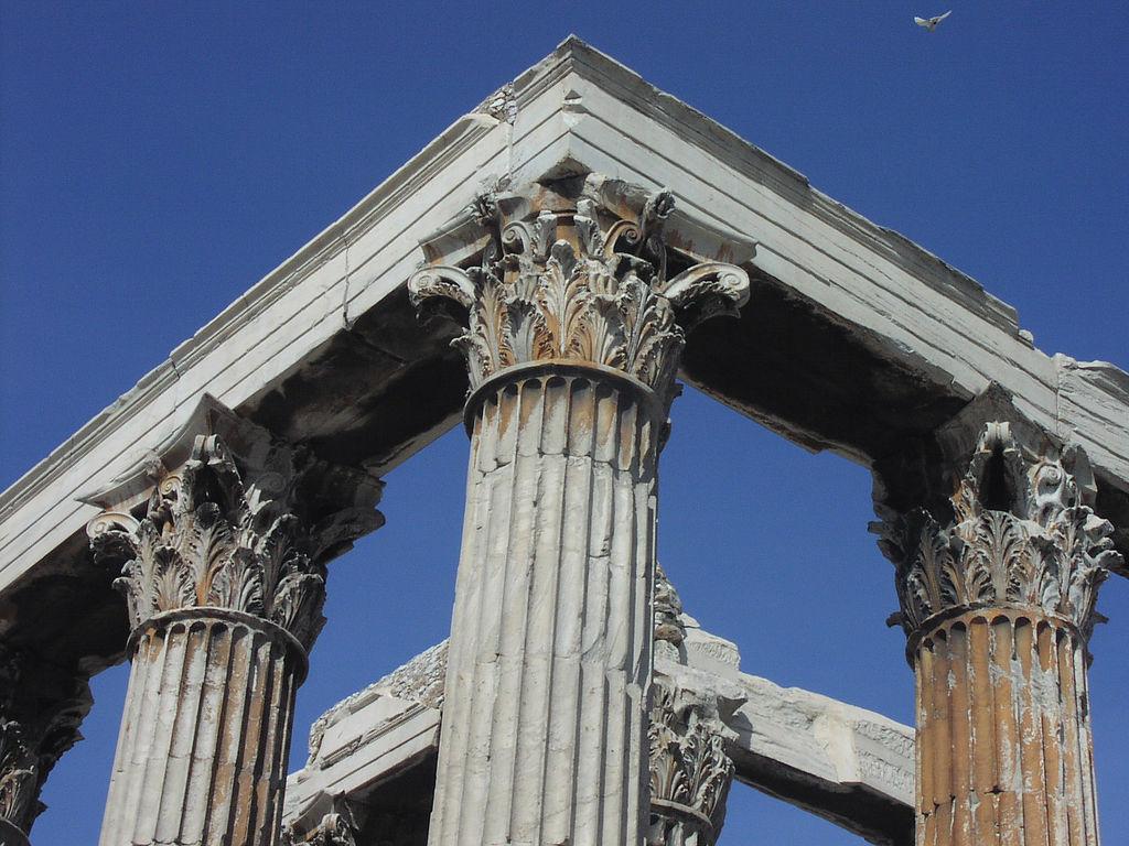 Украшения колонн, Храм Зевса Олимпийского, Афины