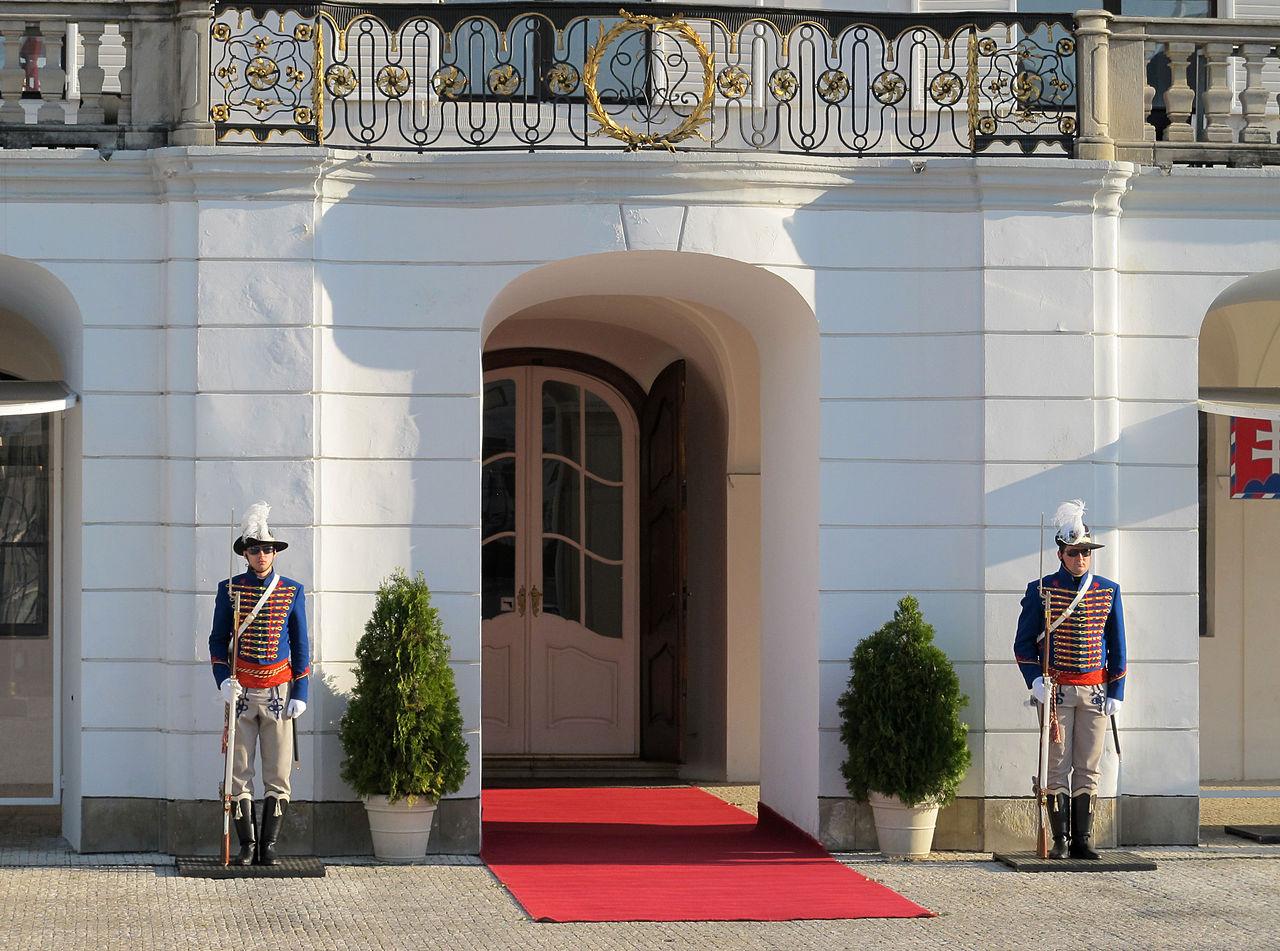 Замок Грашшалковичей, вход