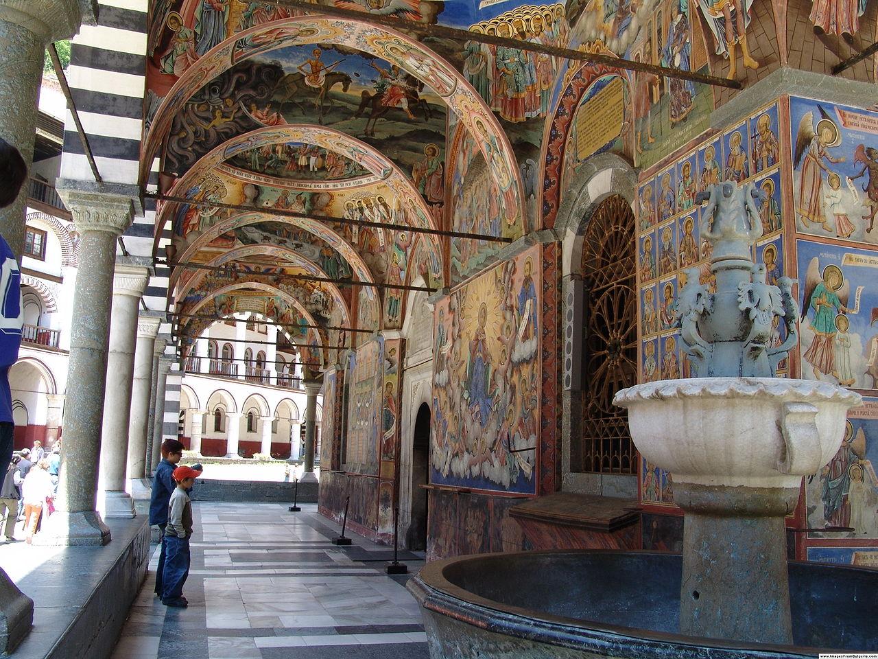 Рильский монастырь, росписи