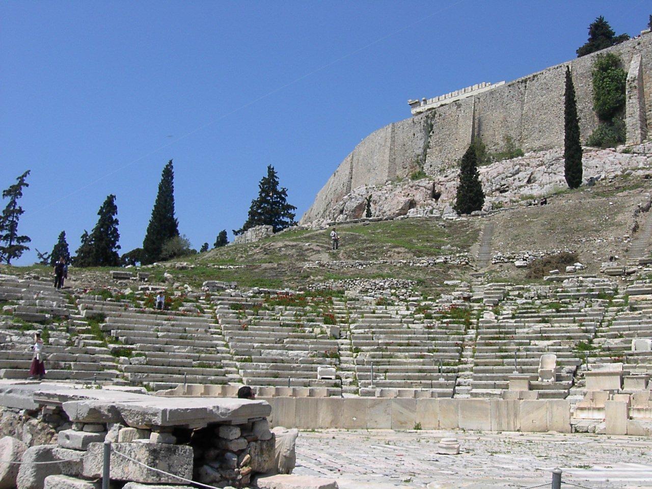 Театр Диониса, ряды сидений