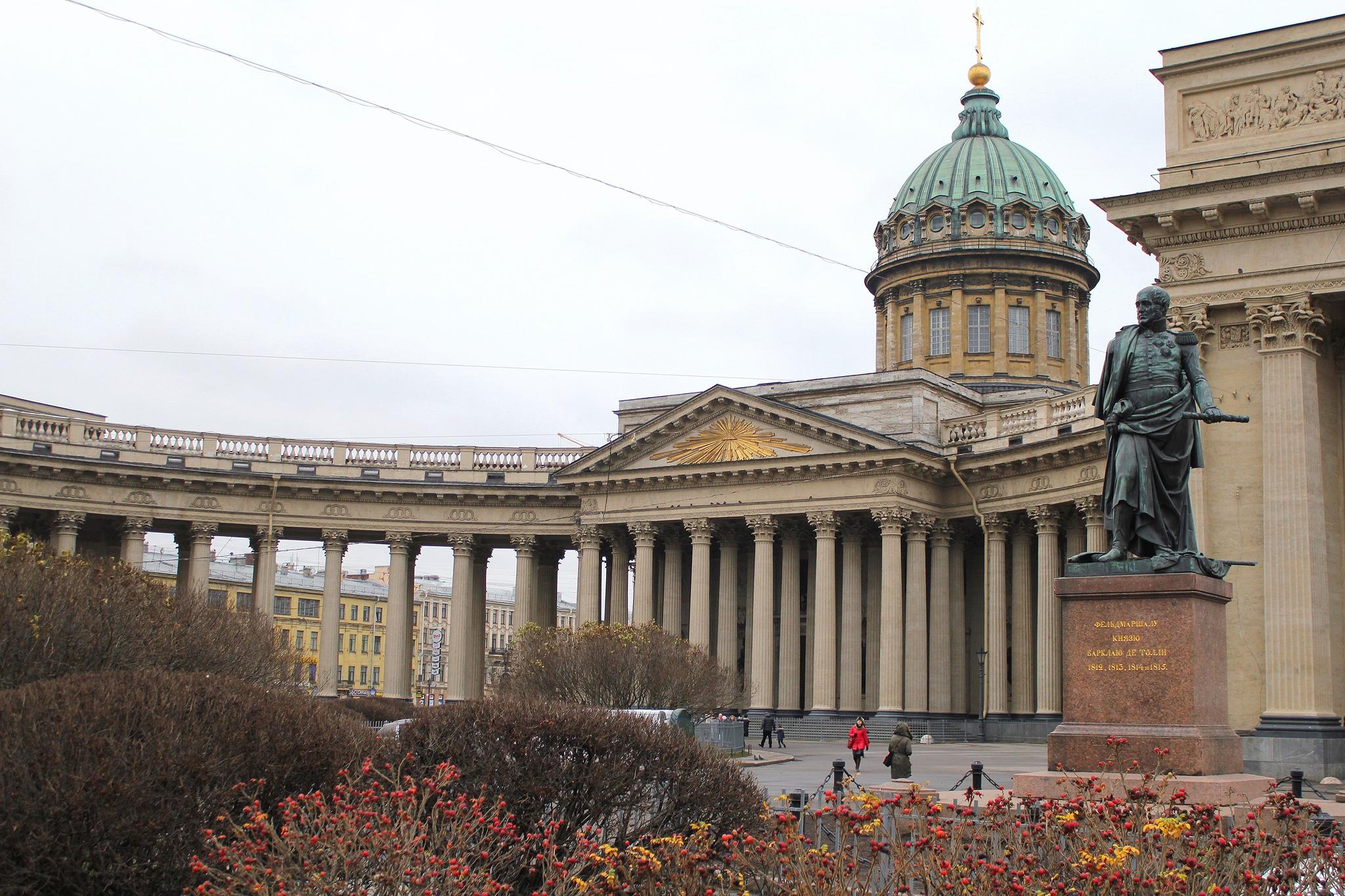 Памятник Барклаю-де-Толли, Казанский собор в Петербурге