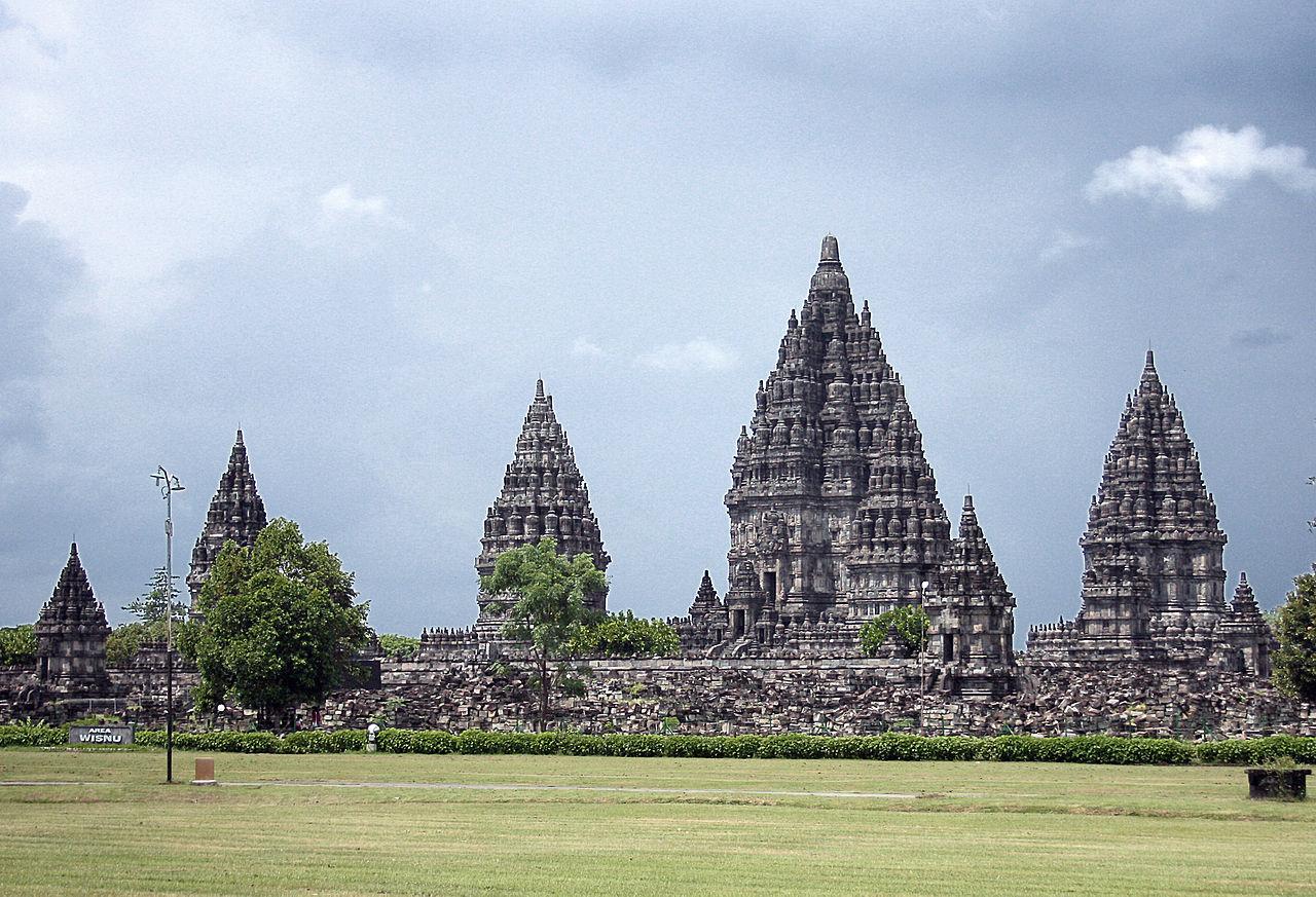 Прамбанан, панорама комплекса