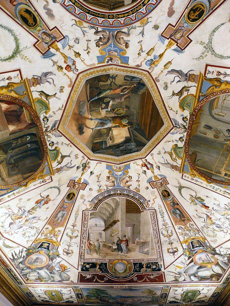 Галерея Уффици, роспись потолка