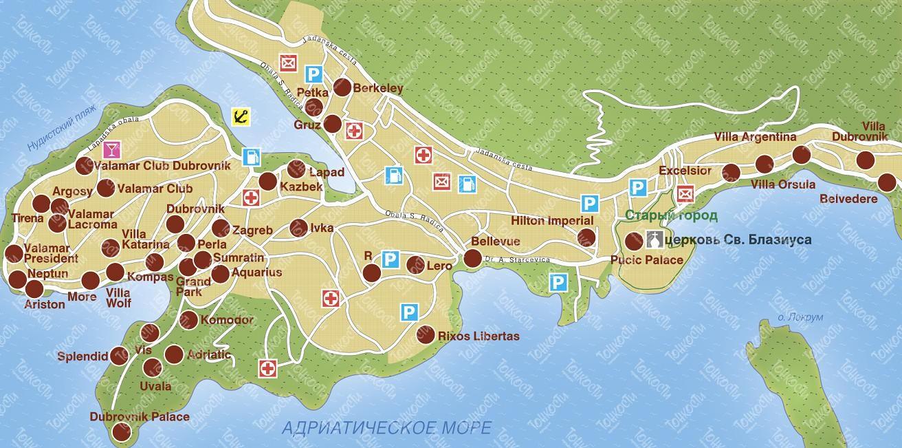 Млини Хорватия отдых пляжи отели Млини от Тонкостей