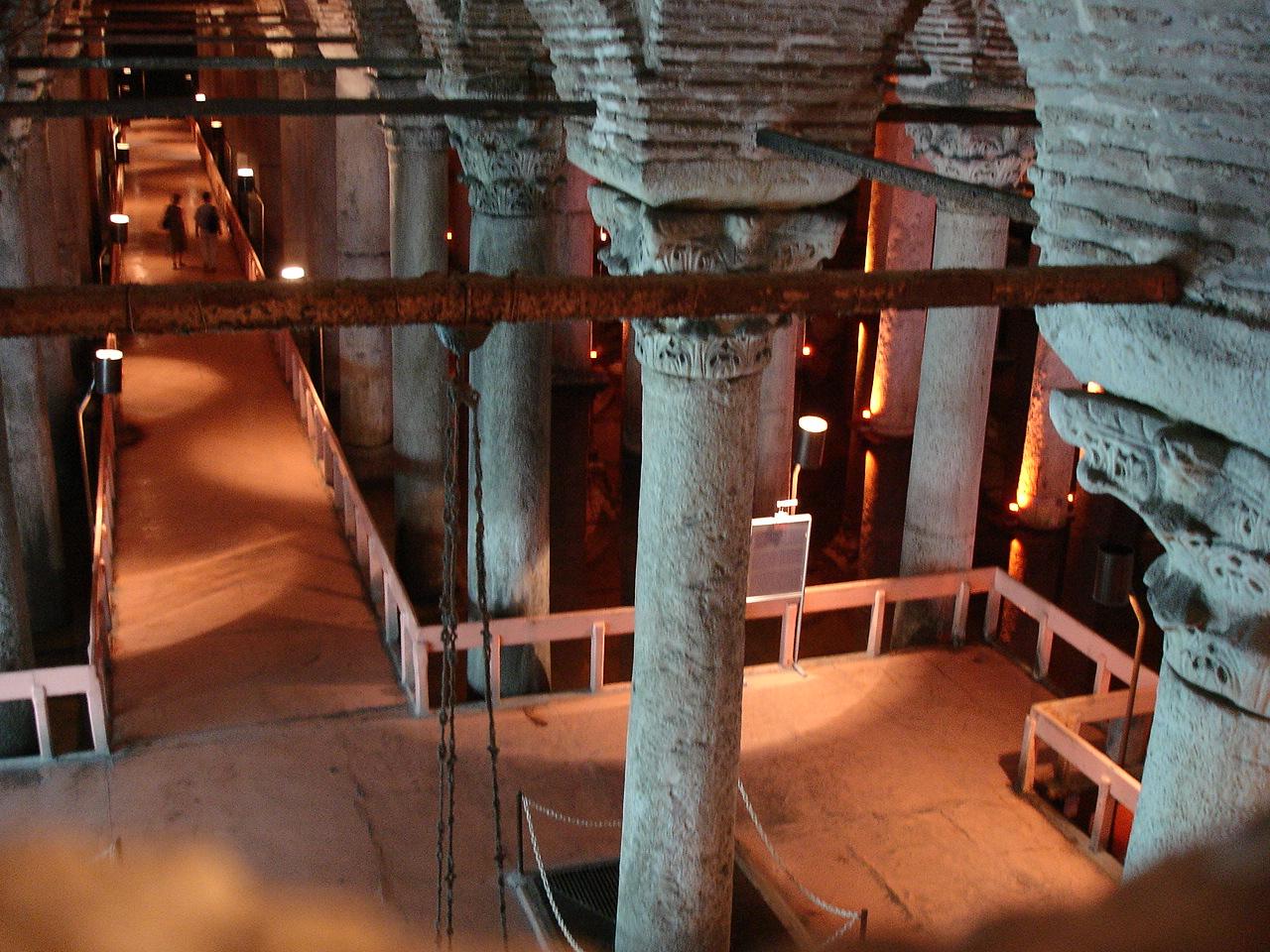 Цистерна Базилика, туристический маршрут
